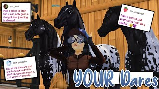 Doing Your Star Stable Dares AGAIN 😳 Buying ALL the Appaloosa Friesians!
