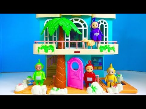 FISHER PRICE Sweet Streets Beach House Tour With TELETUBBIES TOYS Video!