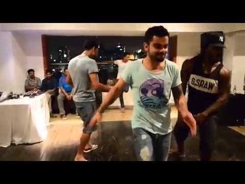 Virat yuvi gayle devillers dancing on gujrati songs