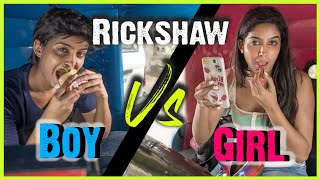 Boys VS. Girls : Rickshaw Ride | BIG CONTEST SURPRISE | Rickshawali