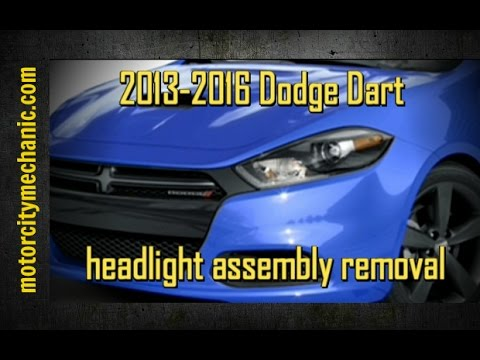 hqdefault 2013 2016 dodge dart headlight assembly replacement youtube 2013 dodge dart headlight wiring diagram at edmiracle.co