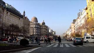 Driving in Prague  ( Czech Republic ) , November 2014
