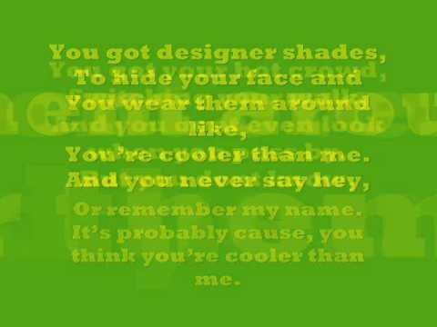 Mike Posner  Cooler Than Me Lyrics