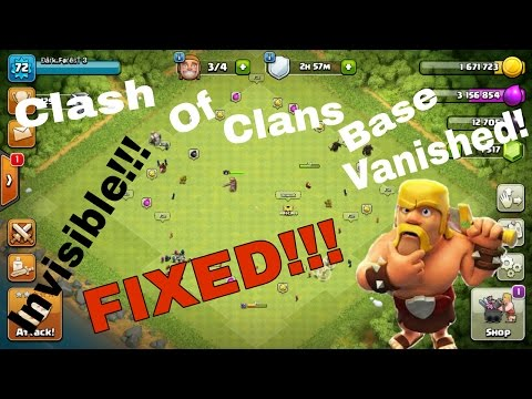 How To Fix Clash Of Clans Base Vanished Issue | What To Do When Clash Of Clans Game Base Invisible