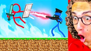 Gambar cover Reacting To The BEST MINECRAFT STICK FIGHT ANIMATIONS!