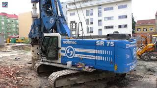 Soilmec SR-75 and JCB backhoe