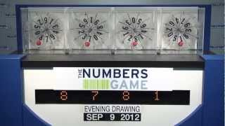 Evening Numbers Game Drawing: Sunday, September 9, 2012