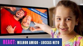 REAGINDO AO CLIPE Luccas Neto - Meu Melhor Amigo (Musica Oficial)