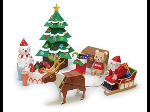 Christmas Paper Crafts  Beautiful Handmade Set Of Diy Picture Collections & Ideas
