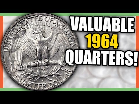 1964 QUARTERS WORTH MONEY - RARE SILVER QUARTERS TO LOOK FOR!!