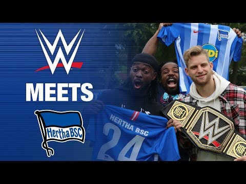 WWE MEETS HERTHA - Rusev - Kingston - Woods - Hertha BSC