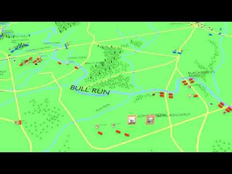 Animated Battles - First Battle Of Bull Run - American Civil War 1861