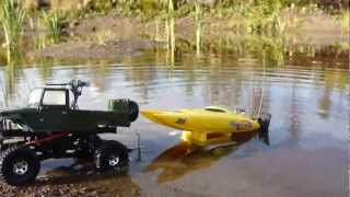 RC TRAIL LANDCRUISER, TRAILER & CATAMARAN EXPEDITION
