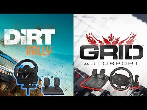 Live Today: DiRT Rally & GRID Autosport (HORI Racing Wheel Apex vs Trust GXT 288 Racing Wheel)