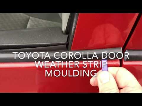 Toyota Corolla Door Window Sweep Belt Moulding Weatherstrip 2009 2010 2011 2012 2013 Youtube