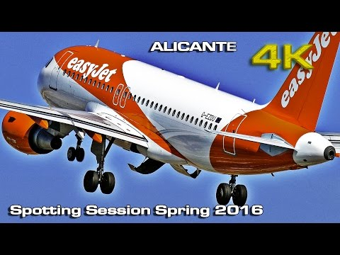 Alicante Airport Spotting Session Spring 2016  [4K]