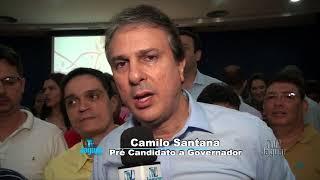Pré candidato a Governador Camilo Santana fala da importância PSB para seu projeto politico.