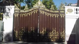 Ворота распашные (чугун, вес 1,5т)(http://dekorlit.com/ Ворота распашные -- надежность и элегантность Обеспечить безопасность собственного дома --..., 2012-10-22T11:56:56.000Z)