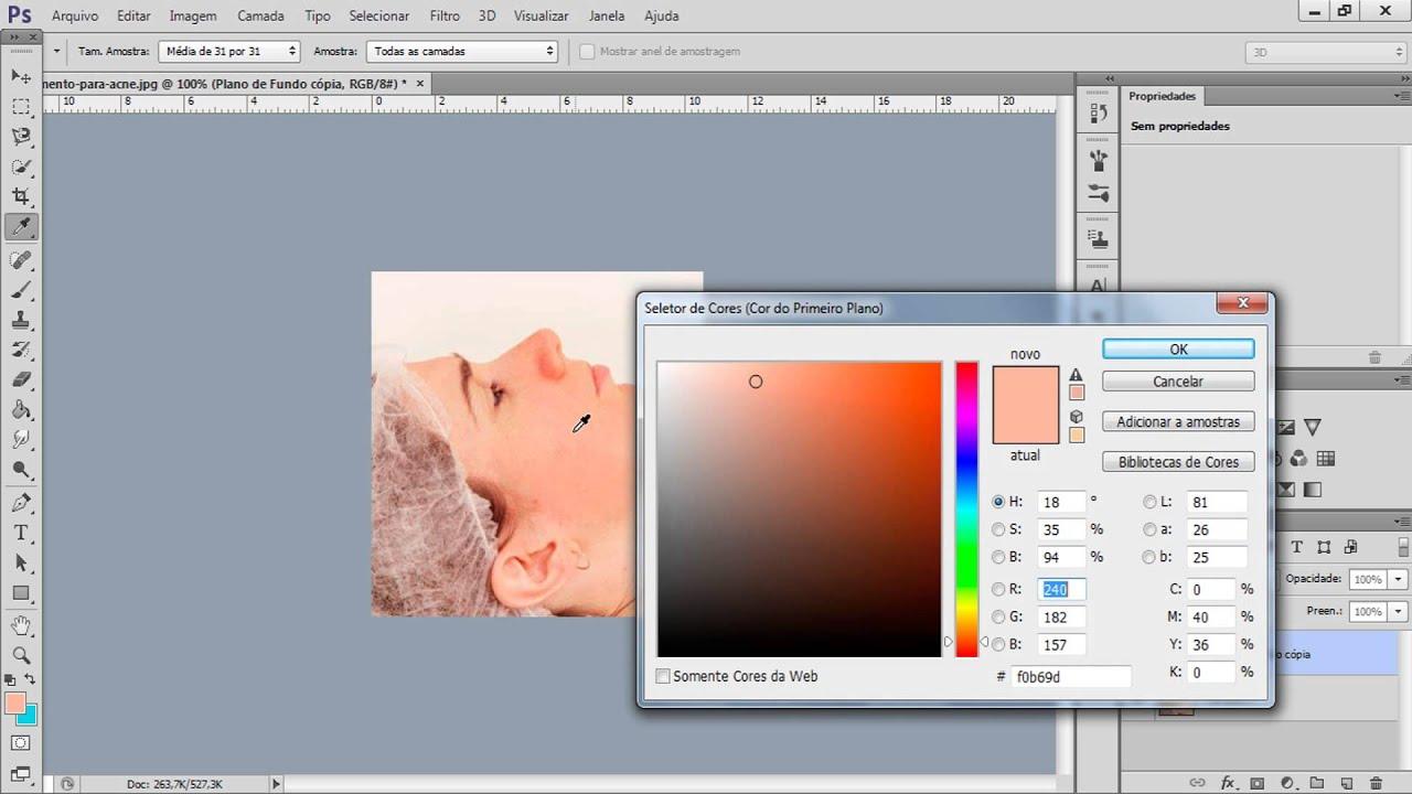 Photoshop Cs6 Tutorial Limpeza De Pele Youtube