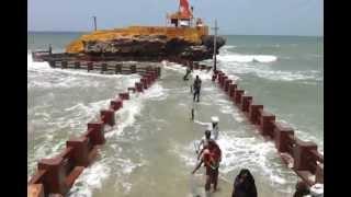 High Tide at Bhadkeshwar Temple, Dewarka Beach.