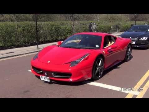 Ferrari 458 Italia HUGE REVS and Driving Scenes