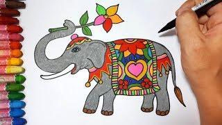 HOW TO DRAW AN ELEPHANT    DRAW FOR KIDS    ELEPHANTS 06