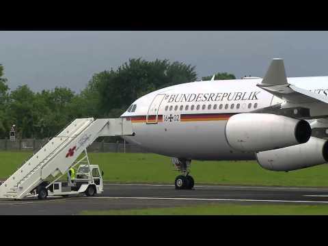 G8 Summit: German Chancellor Angela Merkel arrives
