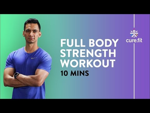 10 minute full body strength at home workout  cultfit no