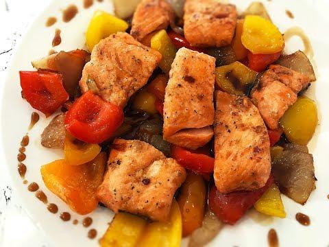 Salmon Stir Fry Recipe- Teriyaki Salmon Recipe- Pan Fried Salmon Recipe
