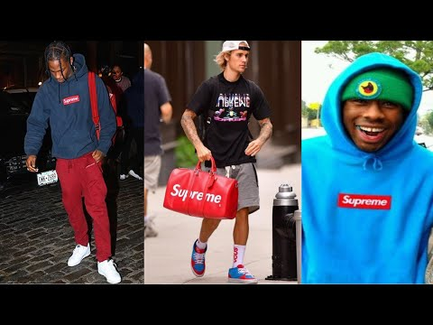 Rappers Wearing Supreme (Travis Scott, Asap Rocky, Tyler The Creator, Justin Bieber)
