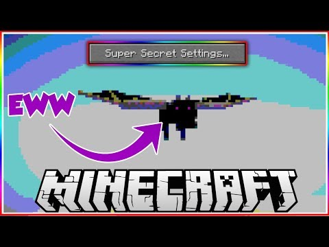Killing the Enderdragon using Minecraft Secret Settings..