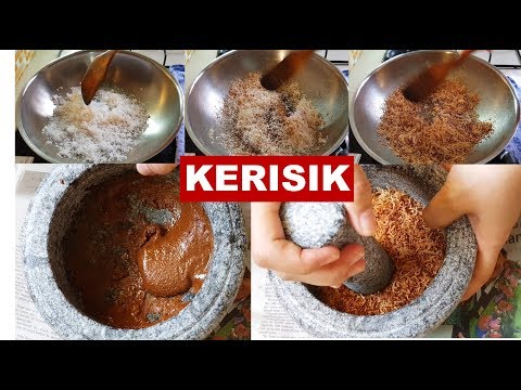 How to Make Kerisik | Toasted Coconut Paste for Rendang