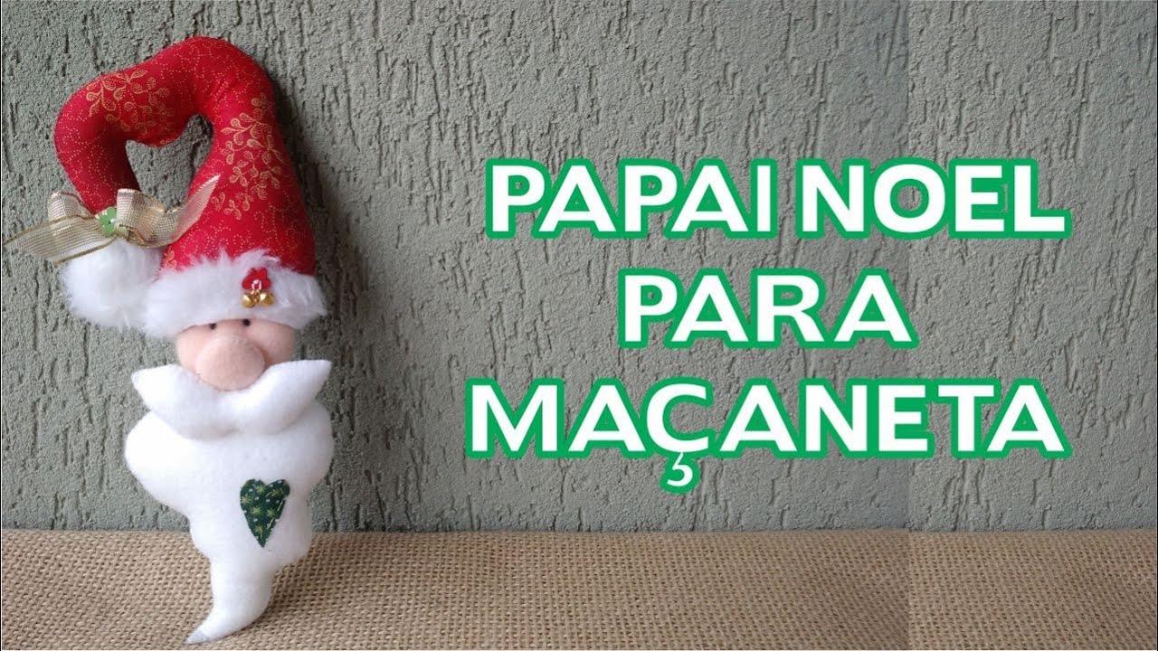 enfeites de natal para jardim passo a passo : enfeites de natal para jardim passo a passo:Enfeites de Natal Passo a Passo – Papai Noel para Maçaneta – YouTube