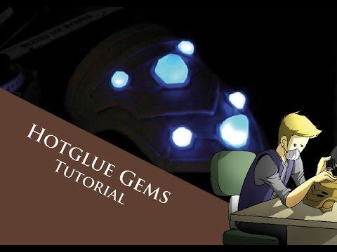 Tutorial - glowing hotglue gems