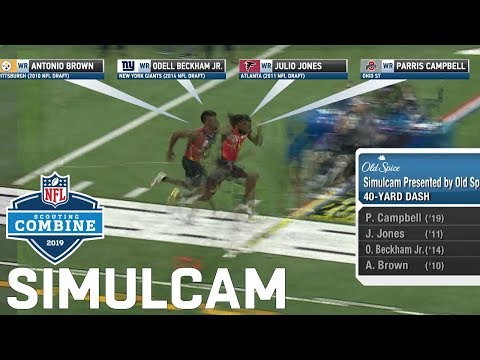 40-Yard Dash Simulcam: Metcalf Vs. Julio, Ramsey, Sherman | Haskins Vs. Baker & More!