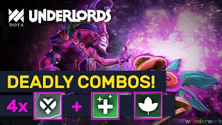 DEADLY COMBOS! Heartless Hearts Druids! Undead Build! | Dota Underlords