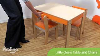 Little One's Table & Chairs By P'kolino