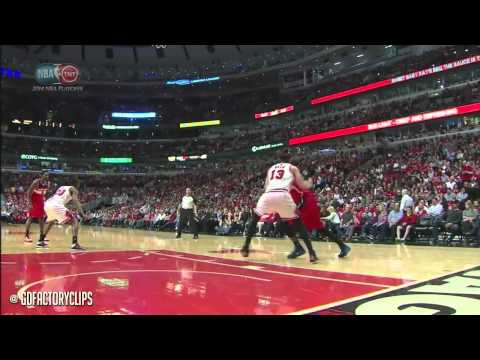 Nene Hilario & John Wall Full Combined Highlights at Bulls - 2014 Playoffs East R1G1