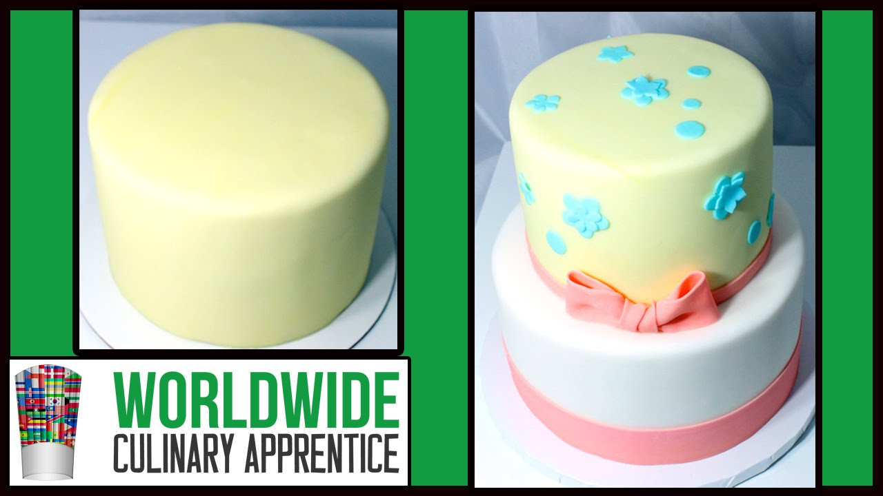 How To Cover Round Cakes With Fondant Cake Decorating