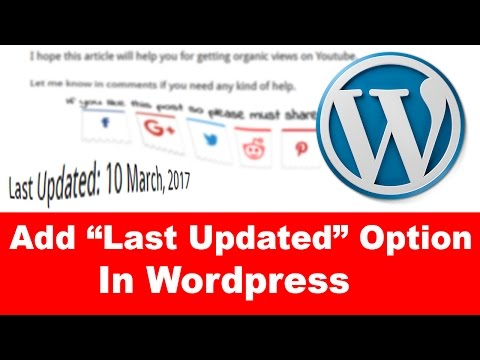 How to Add Automatic Last Updated Option in Wordpress Website - Easy Tutorial
