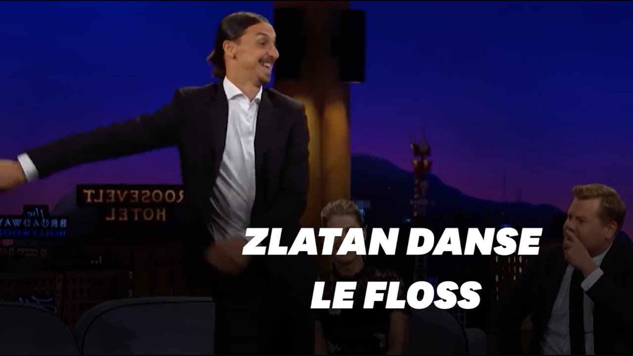 eae8b8c09 Zlatan Ibrahimovic performed 'floss' dance and explained which tattoo was  toughest on James Corden's Show - Sportswallah