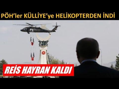 PÖH'ler Külliye'ye Helikopterden İndi Erdoğan Hayran Kaldı.