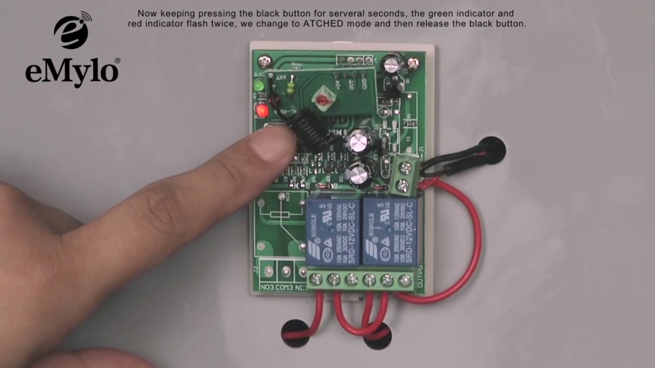 Emylo 12v 2channel Remote Control Switch Wireless Relay