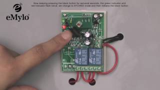 eMylo 12V 2channel remote control switch wireless relay 433mhz