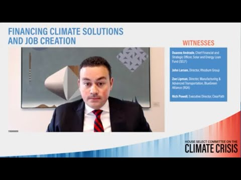 Clean Energy Tax Incentives Needed for Climate Change
