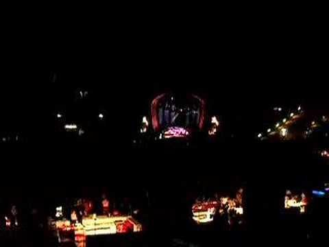Robbie Williams, live, Munchen, Come Undone & flashlights
