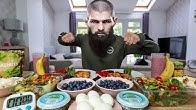 KHABIB NURMAGOMEDOV'S UFC DAILY DIET CHALLENGE...TWICE | BeardMeatsFood