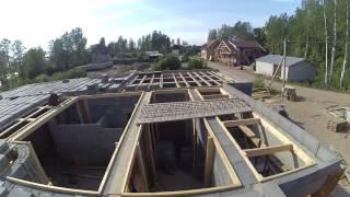 Перекрытие Терива на доме из керамзитного блока. Шеф-Монтаж под Выборгом.(, 2016-09-14T08:15:40.000Z)