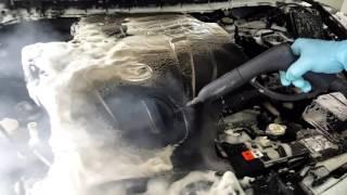 Mazda CX7 мойка двигателя пена + пар