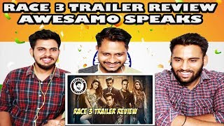 Indian Reaction On RACE 3 TRAILER REVIEW BY AWESAMO SPEAKS | Krishna Views